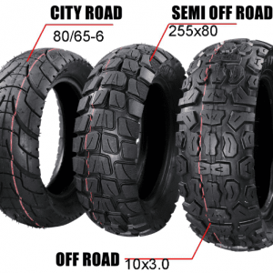10x3.0 inch | 255*80 mm | 80/65-6 Off Road Tyre