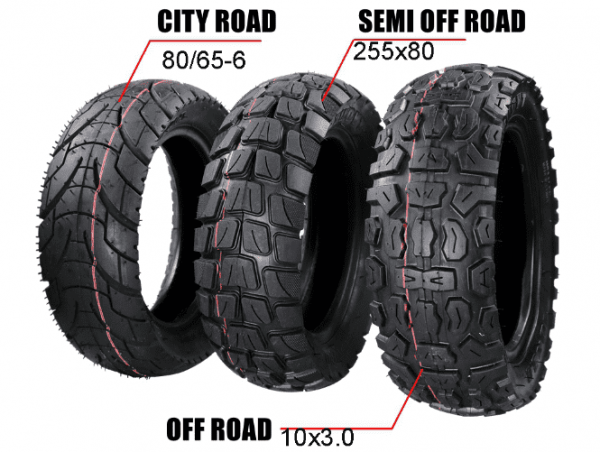 10x3.0 inch   255*80 mm   80/65-6 Off Road Tyre